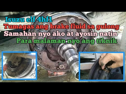 Isuzu elf 4hf1 brake fluid leakage how to repair.