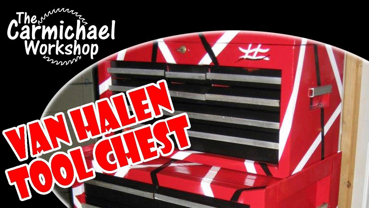 Craftsman Tool Chest Restoration With Van Halen Guitar Paint Job Youtube