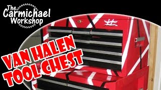Craftsman Tool Chest Restoration With Van Halen Guitar Paint Job