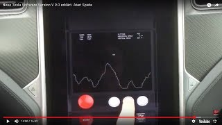 Neue Tesla Software Version V 9.0 erklärt. Atari Spiele