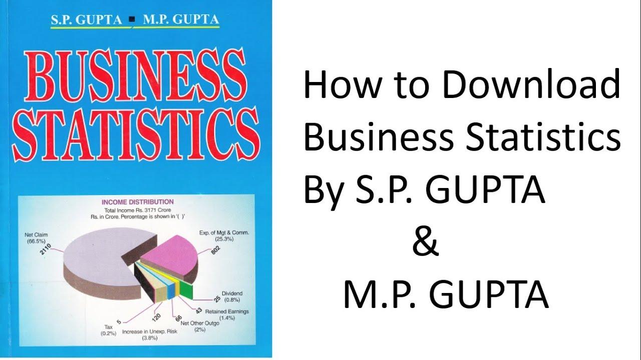 free download statistical methods sp gupta