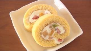 How to Make Japanese Roll Cake (Swiss Roll Recipe) | OCHIKERON | Create Eat Happy :)