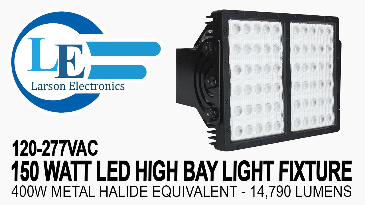 150 watt led high bay light fixture 120 277vac 400w metal halide 150 watt led high bay light fixture 120 277vac 400w metal halide equivalent 14790 lumens youtube arubaitofo Images