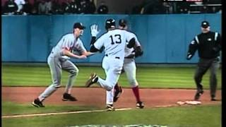 A-Rod slaps Bronson Arroyo's glove  - Game 6 of the 2004 ALCS thumbnail