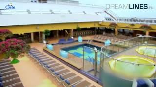 Costa Pacifica - вся информация, экскурсия по кораблю (HD)
