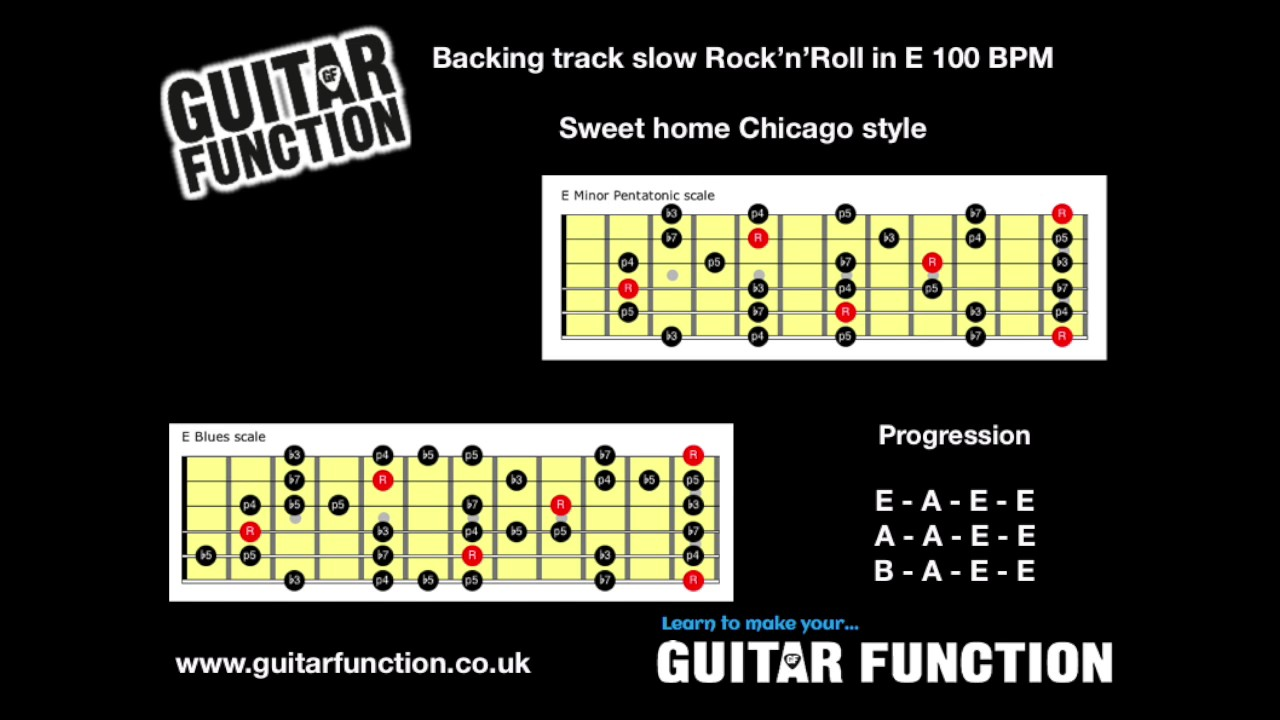 Watch out for the stops!backing track available to download here: Backing Track Blues In E Sweet Home Chicago Style Slow Youtube
