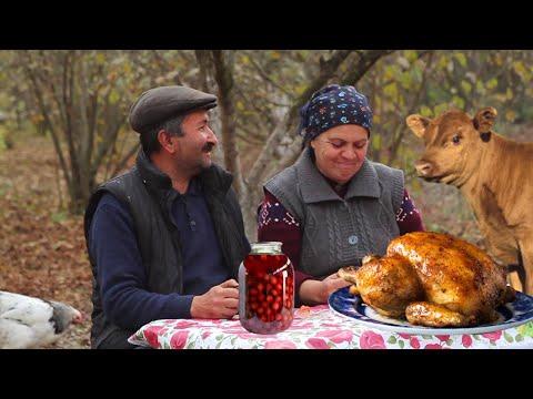 Quyuda Hinduşka Kəbabı, Roast Turkey Recipe, Country Life Vlog