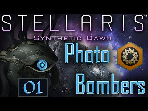 Stellaris: Synthetic Dawn Live Stream Series #01 - Photo Bombers - Insane Difficulty & Ring Galaxy