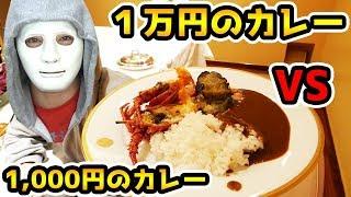 【食べ比べ】一食1万円のカレーと100円のカレー食べ比べ 【Raphael】