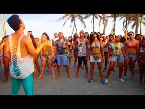 Dance class on Ipanema beach, Rio, Brazil