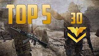 Warface Brasil: Top 5 da Semana #30 / Ak 103 / Alpine / Type 97 / Highlight / PTB / TK2