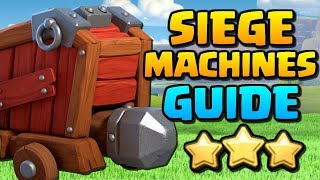 How to use SIEGE MACHINES at TH10, TH11 & TH12 | AMAZING CoC Attacks | Clash of Clans