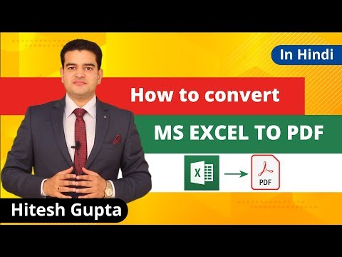 How To Convert Ms Excel To Pdf | Ms Excel To Pdf Tutorial 2019 thumbnail