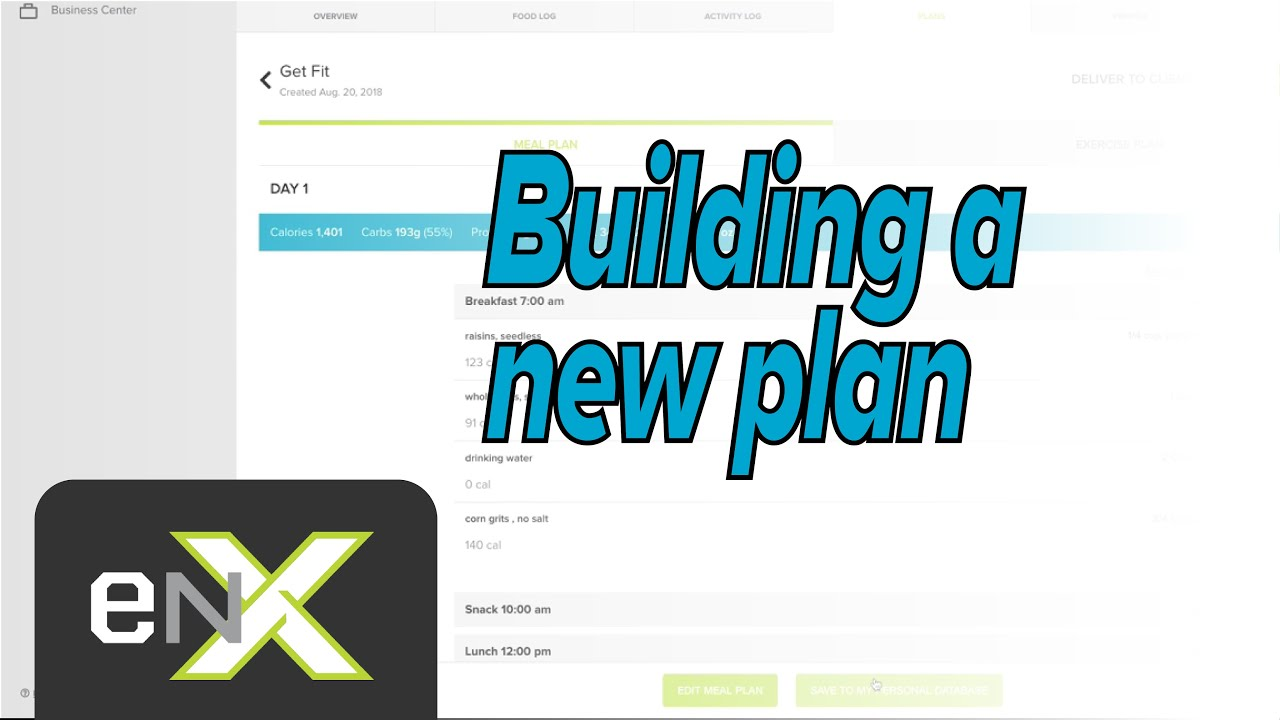Creating a new Meal Plan | Evolution Nutrition