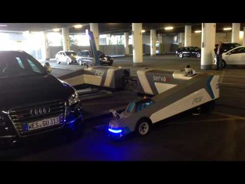Serva automatic car parking using AGVs at Düsseldorf airport