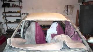 Oprava havarované střechy - Renault Megane
