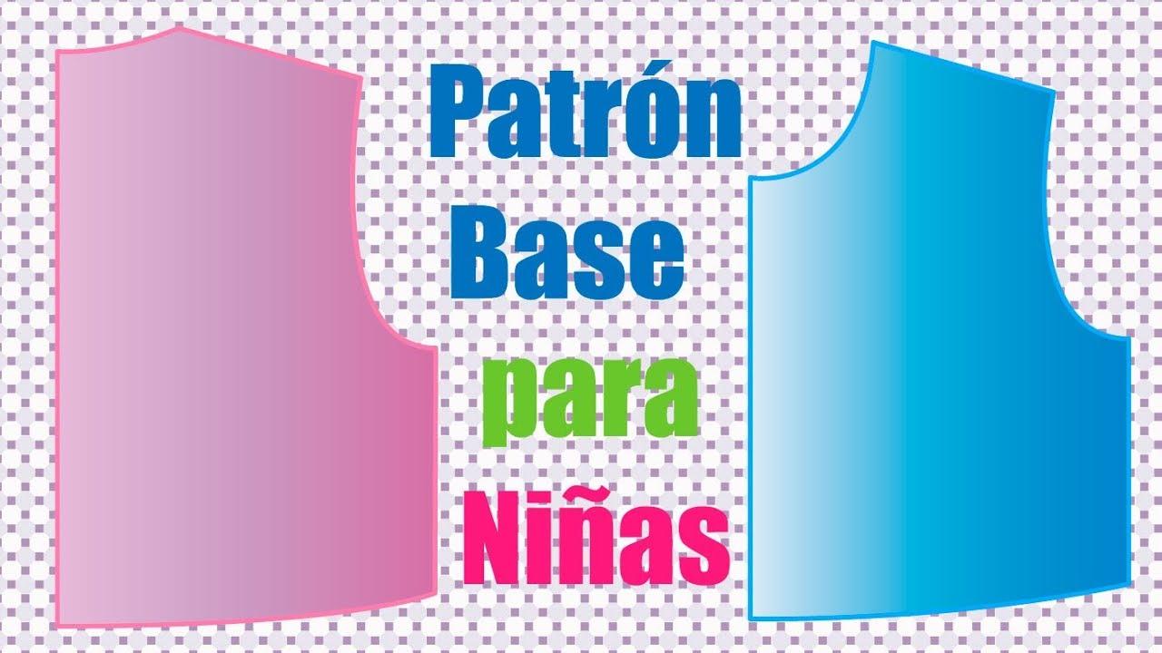 Tutorial Cómo Hacer El Patrón Base De Niña Paso A Paso Kids Pattern Base Step By Setp Youtube