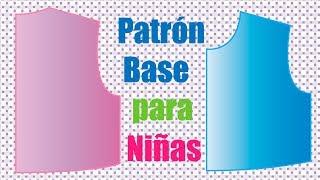 TUTORIAL: Cómo Hacer el Patrón Base de Niña (paso a paso)
