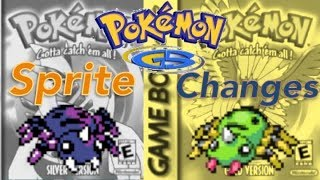 Pokemon Sprite Changes from Gold and Silver
