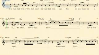Violin - Seasons of Love - Rent - Sheet Music, Chords, & Vocals