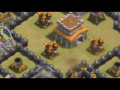 3 Level 5 Lightning Spell And 1 Earthquake Spell Destroying 2 Level 6 Air Defense In Coc
