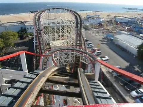 Cyclone Front Seat On Ride Pov Coney Island Astroland Youtube