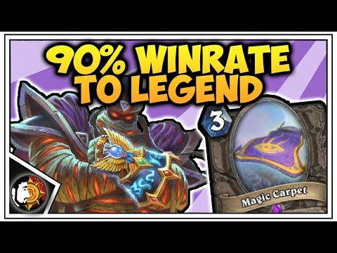 Hearthstone: 90% Winrate To Legend - Zoo Warlock - Rise Of Shadows