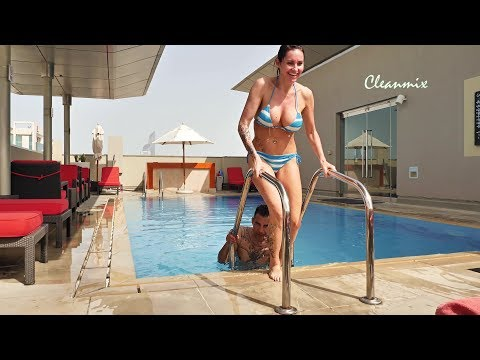 Abu Dhabi Sheikh Zayed Mosque & rooftop pool 4K