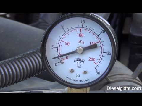 How To Test Fuel Pressure On A Dodge Ram 2500 24v With The