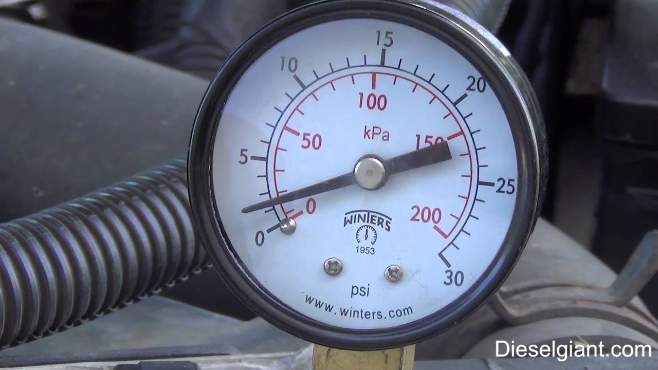 How To Test Fuel Pressure On A Dodge Ram 2500 24v With The Cummins Freightliner Filter Turbo Diesel