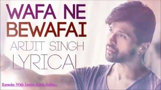 Wafa Ne,,Karaoke With Lyrics,,