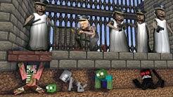 GRANNY HORROR  PRISON ESCAPE MONSTER SCHOOL  - Minecraft Animation