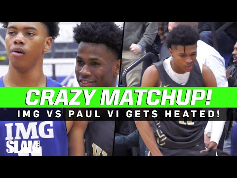 IMG Vs Paul VI Gets HEATED! Jeremy Roach And Dug McDaniel Is A Crazy Backcourt 🔥