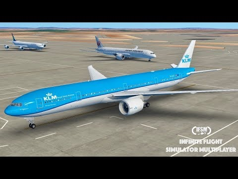 Infinite Flight Global KLM Airlines B777 - 300ER - Los Angeles to London P2