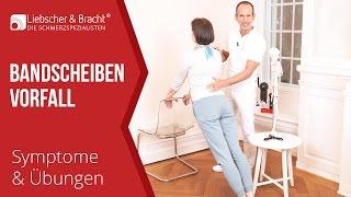 Bandscheibenvorfall | Symptome - Liebscher & Bracht Übungen | Lendenwirbelsäule, Halswirbelsäule