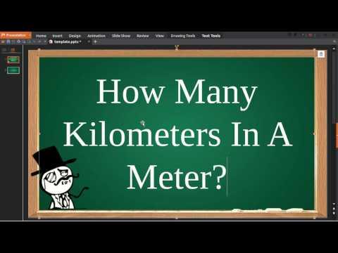 How Many Kilometers In Meter