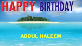 AbdulHaleem   Card Tarjeta - Happy Birthday