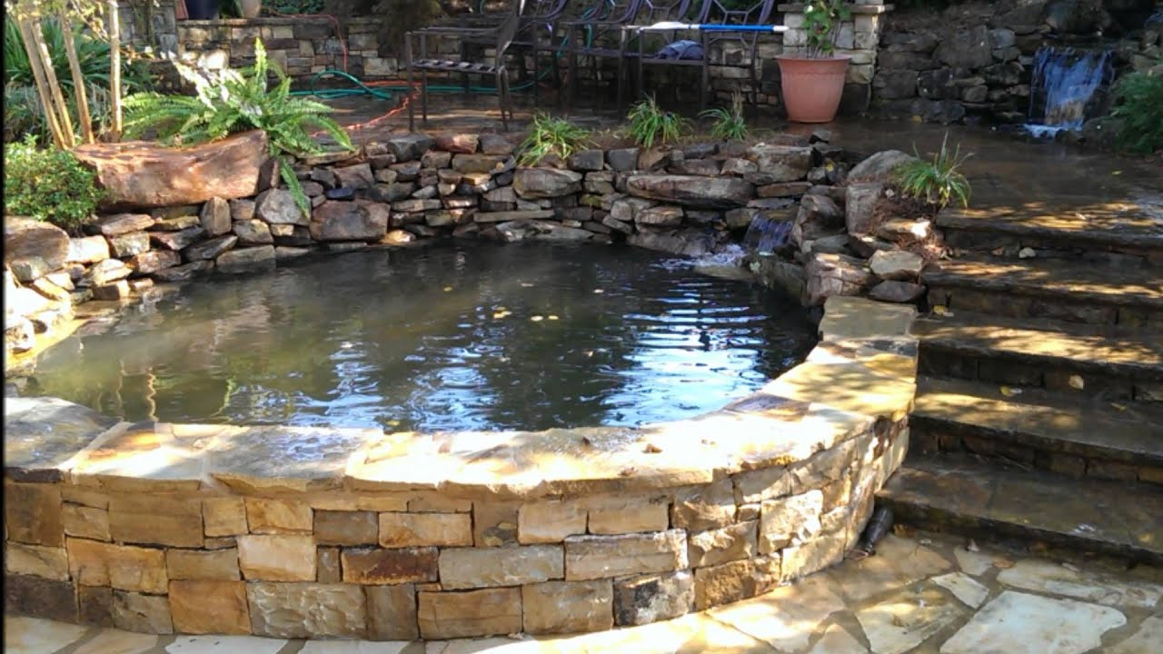 Atlanta Koi Pond Construction Youtube