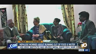Nepalese worried about running out of food and water
