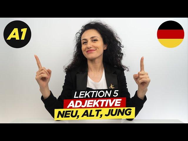 Adjektive: neu, alt, klein / A1 Deutschkurs / Lektion 5 / Deutsch lernen / Learn german