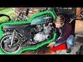 Suzuki GS850 Scrambler   Fixing the OIL LEAK!   Top End Rebuild #1