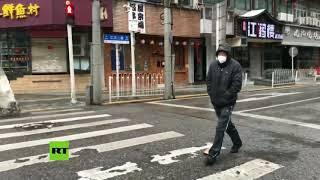 Las calles de Wuhan, vacías por el coronavirus