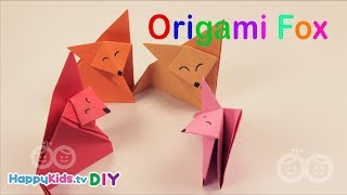 Origami Fox | PlayDough Crafts | Kid's Crafts and Activities | Happykids DIY