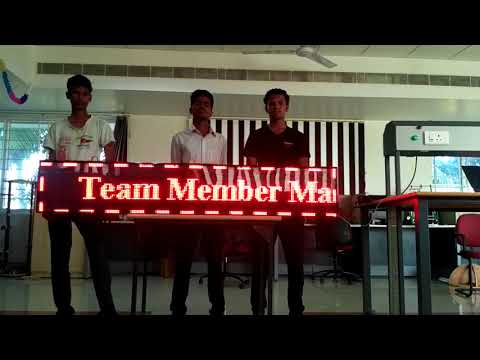 Running LED display By Engineering Students