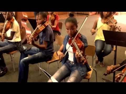 Don Laka's 'Morning Prayer' rehearsal with youth strings
