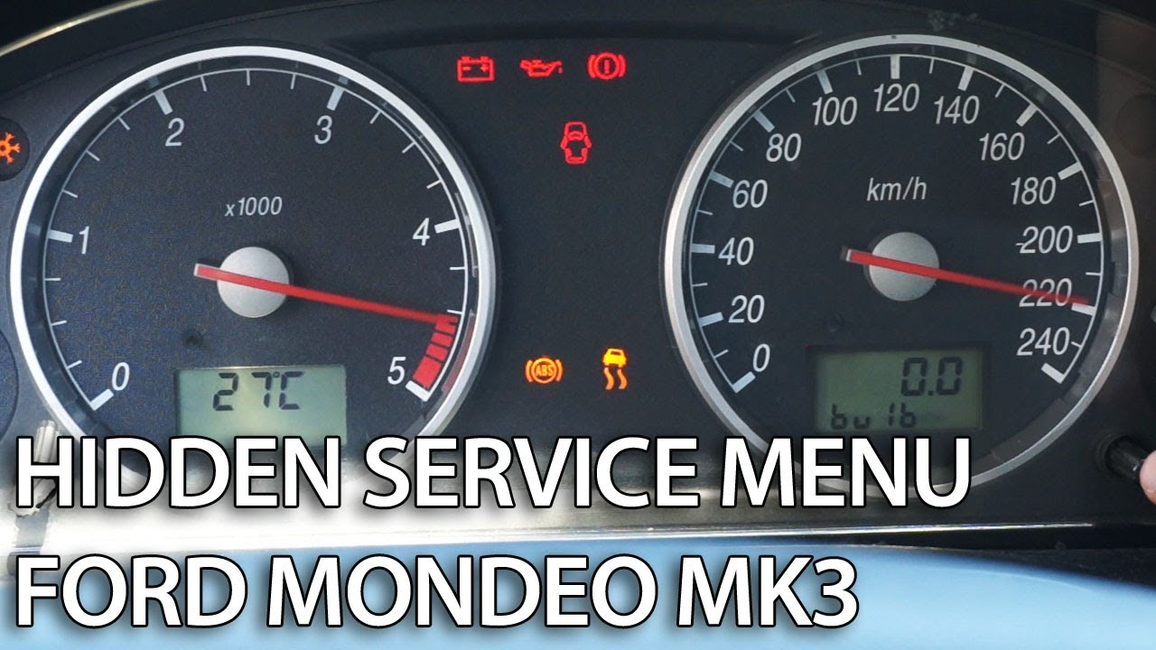 how to enter hidden menu in ford mondeo mk3 service mode gauges rh youtube com Ford Mondeo Estate Ford Mondeo Estate