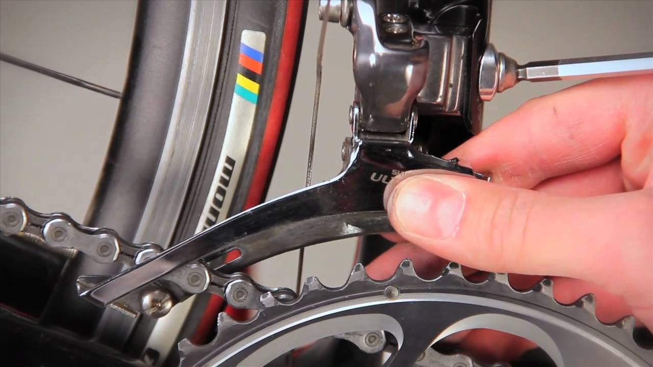 97e7cacd011 Front Derailleur Adjustment - YouTube