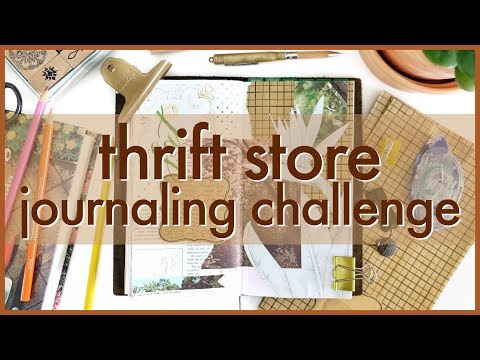 Thrift Store Journaling Challenge | Journal with Me