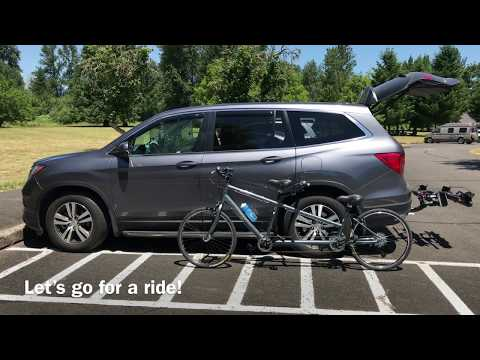 2017 Honda Pilot - carrying tandem bike