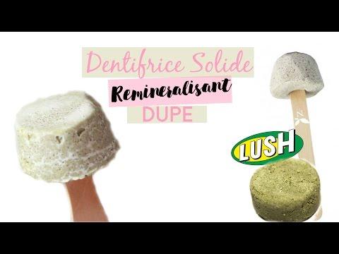 ✮ DIY ✮ DUPE LUSH LAMAZUNA ✮Dentrice Reminéralisant Solide  | Caly Beauty